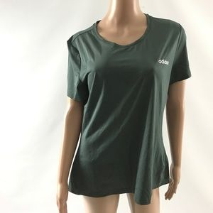 Adidas Climalite Women's Tee-Shirt Scoop Neck Sz L